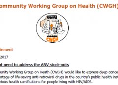 Urgent need to address the ARV stock-outs