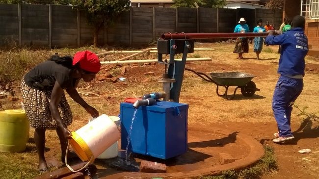 A borehole with an installed Chlorinator